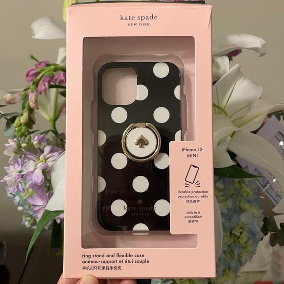 Kate Spade iPhone 12 MINI phone case w ring stand